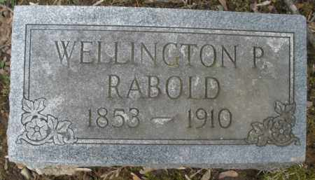 RABOLD, WELLINGTON P. - Montgomery County, Ohio | WELLINGTON P. RABOLD - Ohio Gravestone Photos