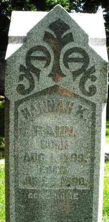 RAHN, HANNAH K. - Montgomery County, Ohio | HANNAH K. RAHN - Ohio Gravestone Photos