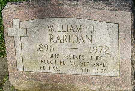 RARIDAN, WILLIAM J - Montgomery County, Ohio | WILLIAM J RARIDAN - Ohio Gravestone Photos