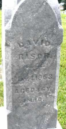 RASOR, DAVID - Montgomery County, Ohio | DAVID RASOR - Ohio Gravestone Photos