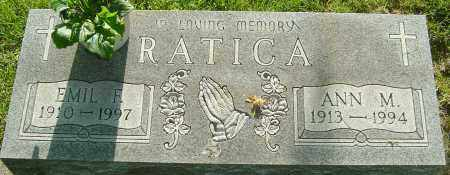 RATICA, EMIL F - Montgomery County, Ohio | EMIL F RATICA - Ohio Gravestone Photos
