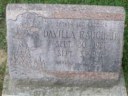 RAUCH, DAVILLA JR. - Montgomery County, Ohio | DAVILLA JR. RAUCH - Ohio Gravestone Photos