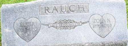 RAUCH, ELMER - Montgomery County, Ohio | ELMER RAUCH - Ohio Gravestone Photos