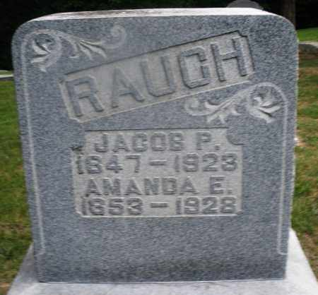 RAUCH, JACOB P. - Montgomery County, Ohio | JACOB P. RAUCH - Ohio Gravestone Photos