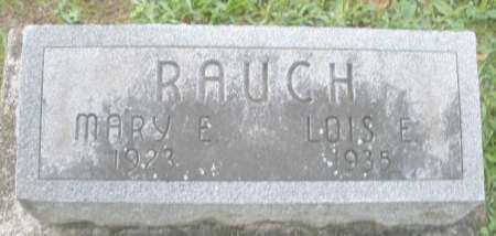 RAUCH, MARY E. - Montgomery County, Ohio | MARY E. RAUCH - Ohio Gravestone Photos