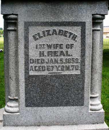 REAL, ELIZABETH - Montgomery County, Ohio | ELIZABETH REAL - Ohio Gravestone Photos