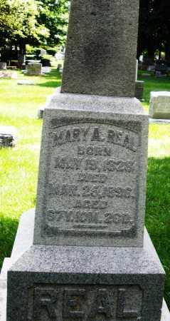 REAL, MARY A. - Montgomery County, Ohio | MARY A. REAL - Ohio Gravestone Photos