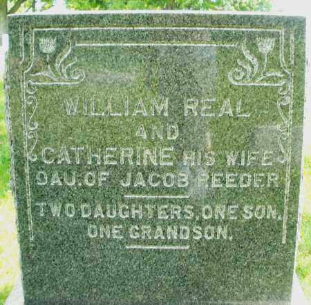 REAL, WILLIAM - Montgomery County, Ohio | WILLIAM REAL - Ohio Gravestone Photos