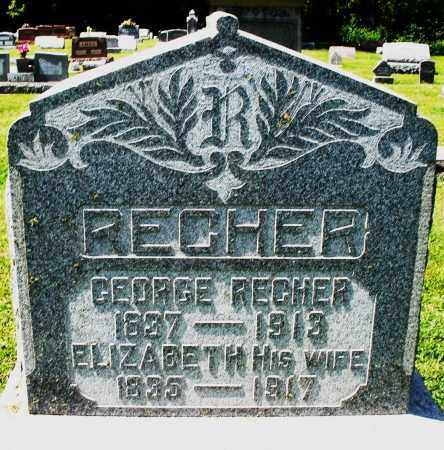 RECHER, GEORGE - Montgomery County, Ohio | GEORGE RECHER - Ohio Gravestone Photos