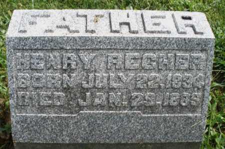 RECHER, HENRY - Montgomery County, Ohio | HENRY RECHER - Ohio Gravestone Photos