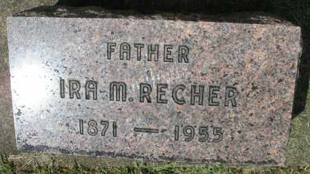 RECHER, IRA M. - Montgomery County, Ohio | IRA M. RECHER - Ohio Gravestone Photos