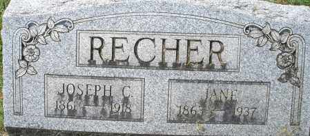 RECHER, JANE - Montgomery County, Ohio | JANE RECHER - Ohio Gravestone Photos