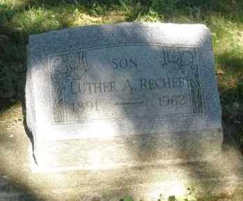RECHER, LUTHER A. - Montgomery County, Ohio | LUTHER A. RECHER - Ohio Gravestone Photos
