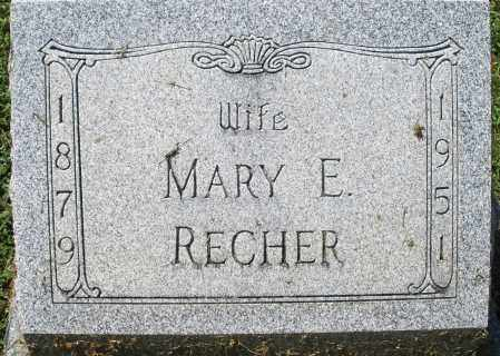 RECHER, MARY E. - Montgomery County, Ohio | MARY E. RECHER - Ohio Gravestone Photos