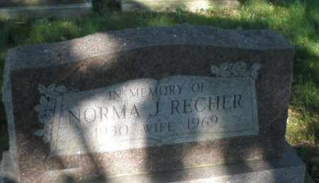 RECHER, NORMA J. - Montgomery County, Ohio | NORMA J. RECHER - Ohio Gravestone Photos