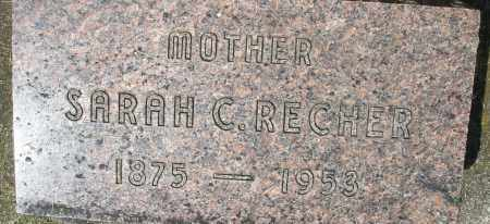 RECHER, SARAH C. - Montgomery County, Ohio | SARAH C. RECHER - Ohio Gravestone Photos