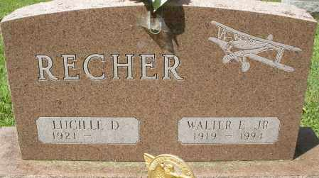 RECHER, WALTER E. JR. - Montgomery County, Ohio | WALTER E. JR. RECHER - Ohio Gravestone Photos