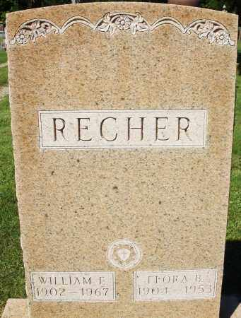 RECHER, FLORA B. - Montgomery County, Ohio | FLORA B. RECHER - Ohio Gravestone Photos