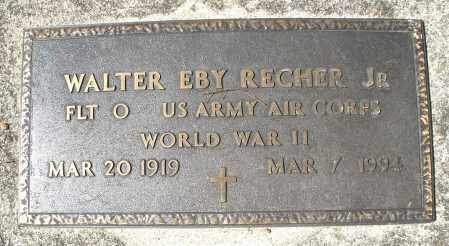 RECHER, WALTER EBY - Montgomery County, Ohio | WALTER EBY RECHER - Ohio Gravestone Photos