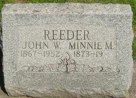 REEDER, MINNIE M - Montgomery County, Ohio | MINNIE M REEDER - Ohio Gravestone Photos