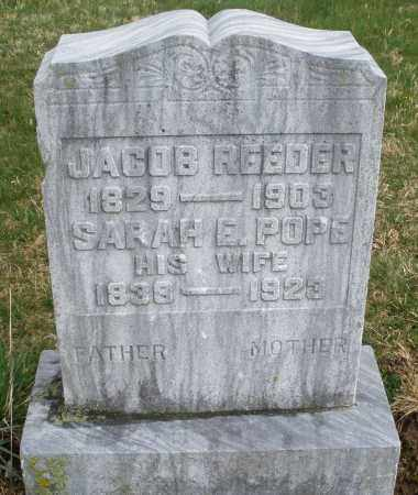 REEDER, JACOB - Montgomery County, Ohio | JACOB REEDER - Ohio Gravestone Photos