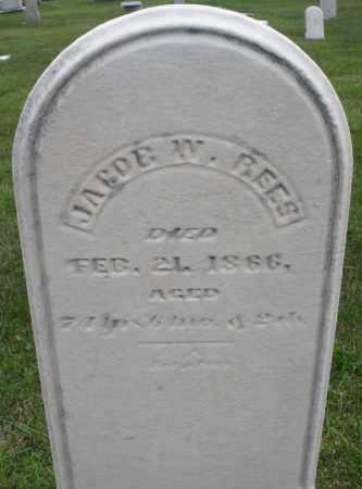 REES, JACOB W. - Montgomery County, Ohio | JACOB W. REES - Ohio Gravestone Photos