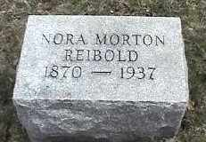 MORTON REIBOLD, NORA - Montgomery County, Ohio | NORA MORTON REIBOLD - Ohio Gravestone Photos