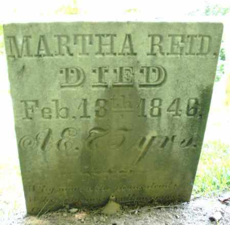 REID, MARTHA - Montgomery County, Ohio | MARTHA REID - Ohio Gravestone Photos