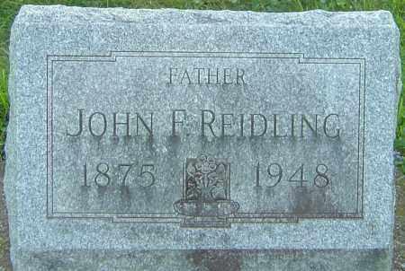 REIDLING, JOHN FREDRICK - Montgomery County, Ohio | JOHN FREDRICK REIDLING - Ohio Gravestone Photos