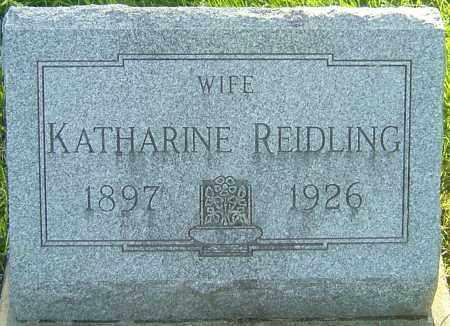 REIDLING, KATHARINE - Montgomery County, Ohio | KATHARINE REIDLING - Ohio Gravestone Photos