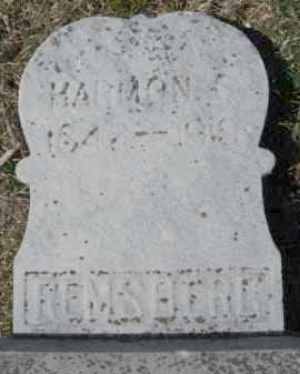 REMSBERG, HARMON - Montgomery County, Ohio | HARMON REMSBERG - Ohio Gravestone Photos