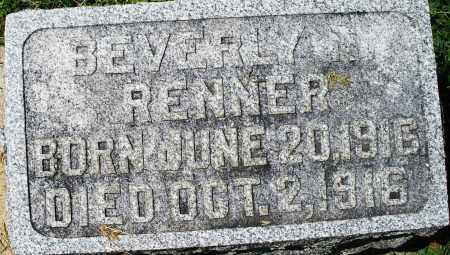 RENNER, BEVERLY N. INFANT - Montgomery County, Ohio | BEVERLY N. INFANT RENNER - Ohio Gravestone Photos