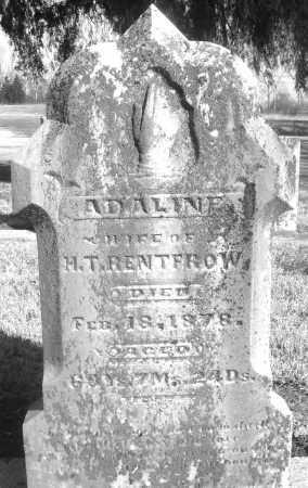 RENTFROW, ADALINE - Montgomery County, Ohio | ADALINE RENTFROW - Ohio Gravestone Photos