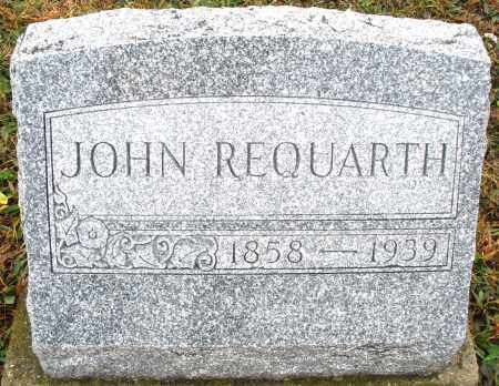 REQUARTH, JOHN - Montgomery County, Ohio | JOHN REQUARTH - Ohio Gravestone Photos