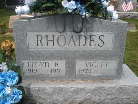 RHOADES, VIOLET - Montgomery County, Ohio | VIOLET RHOADES - Ohio Gravestone Photos