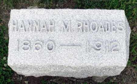 RHOADES, HANNAH M. - Montgomery County, Ohio | HANNAH M. RHOADES - Ohio Gravestone Photos