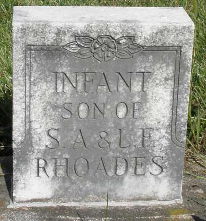 RHOADES, INFANT SON - Montgomery County, Ohio   INFANT SON RHOADES - Ohio Gravestone Photos