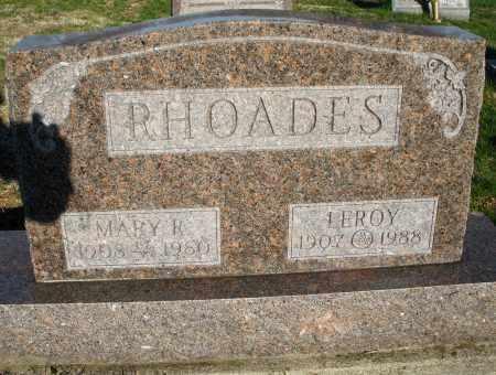 RHOADES, MARY R. - Montgomery County, Ohio | MARY R. RHOADES - Ohio Gravestone Photos
