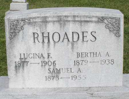 RHOADES, LUCINA F. - Montgomery County, Ohio | LUCINA F. RHOADES - Ohio Gravestone Photos