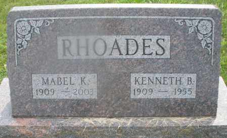 RHOADES, KENNETH B. - Montgomery County, Ohio | KENNETH B. RHOADES - Ohio Gravestone Photos