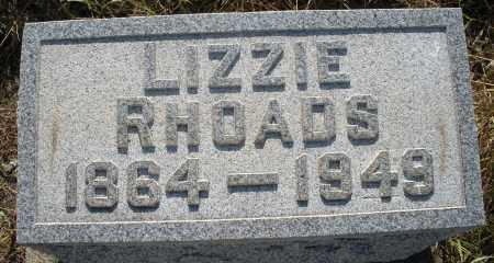 RHOADS, LIZZIE - Montgomery County, Ohio | LIZZIE RHOADS - Ohio Gravestone Photos