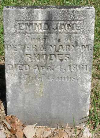 RHODES, EMMA JANE - Montgomery County, Ohio | EMMA JANE RHODES - Ohio Gravestone Photos