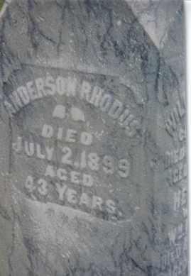 RHODUS, ANDERSON - Montgomery County, Ohio | ANDERSON RHODUS - Ohio Gravestone Photos