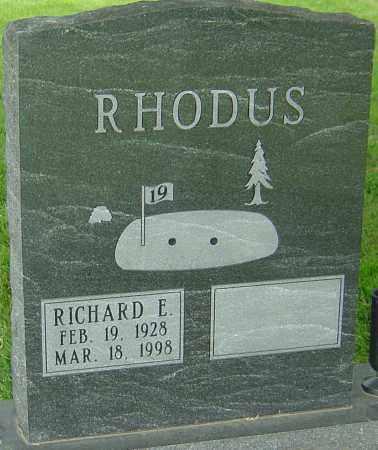 RHODUS, RICHARD E - Montgomery County, Ohio | RICHARD E RHODUS - Ohio Gravestone Photos