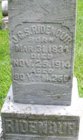 RIDENOUR, J.G.S. - Montgomery County, Ohio | J.G.S. RIDENOUR - Ohio Gravestone Photos