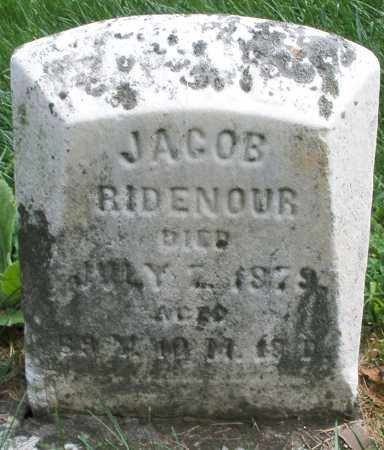 RIDENOUR, JACOB - Montgomery County, Ohio | JACOB RIDENOUR - Ohio Gravestone Photos