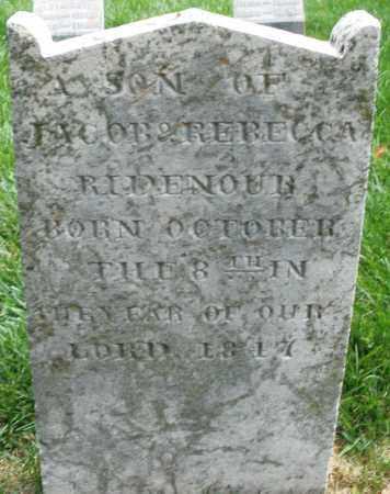 RIDENOUR, SON - Montgomery County, Ohio | SON RIDENOUR - Ohio Gravestone Photos