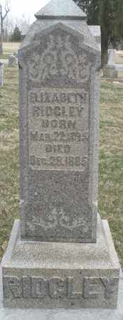 RIDGLEY, ELIZABETH - Montgomery County, Ohio | ELIZABETH RIDGLEY - Ohio Gravestone Photos