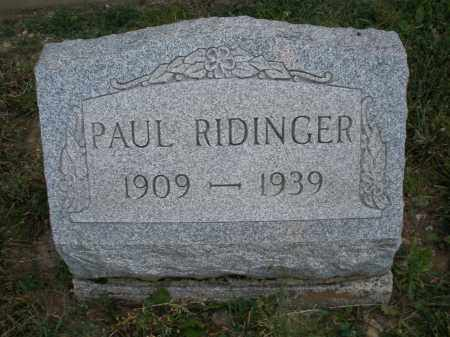 RIDINGER, PAUL - Montgomery County, Ohio | PAUL RIDINGER - Ohio Gravestone Photos