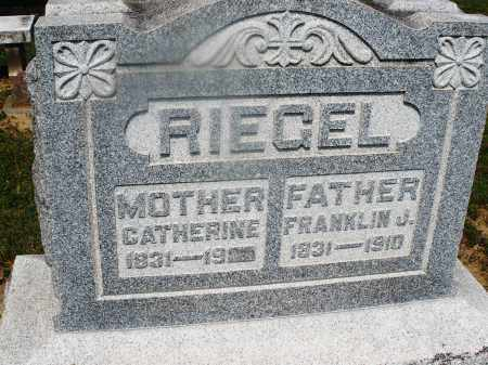 RIEGEL, FRANKLIN J. - Montgomery County, Ohio | FRANKLIN J. RIEGEL - Ohio Gravestone Photos